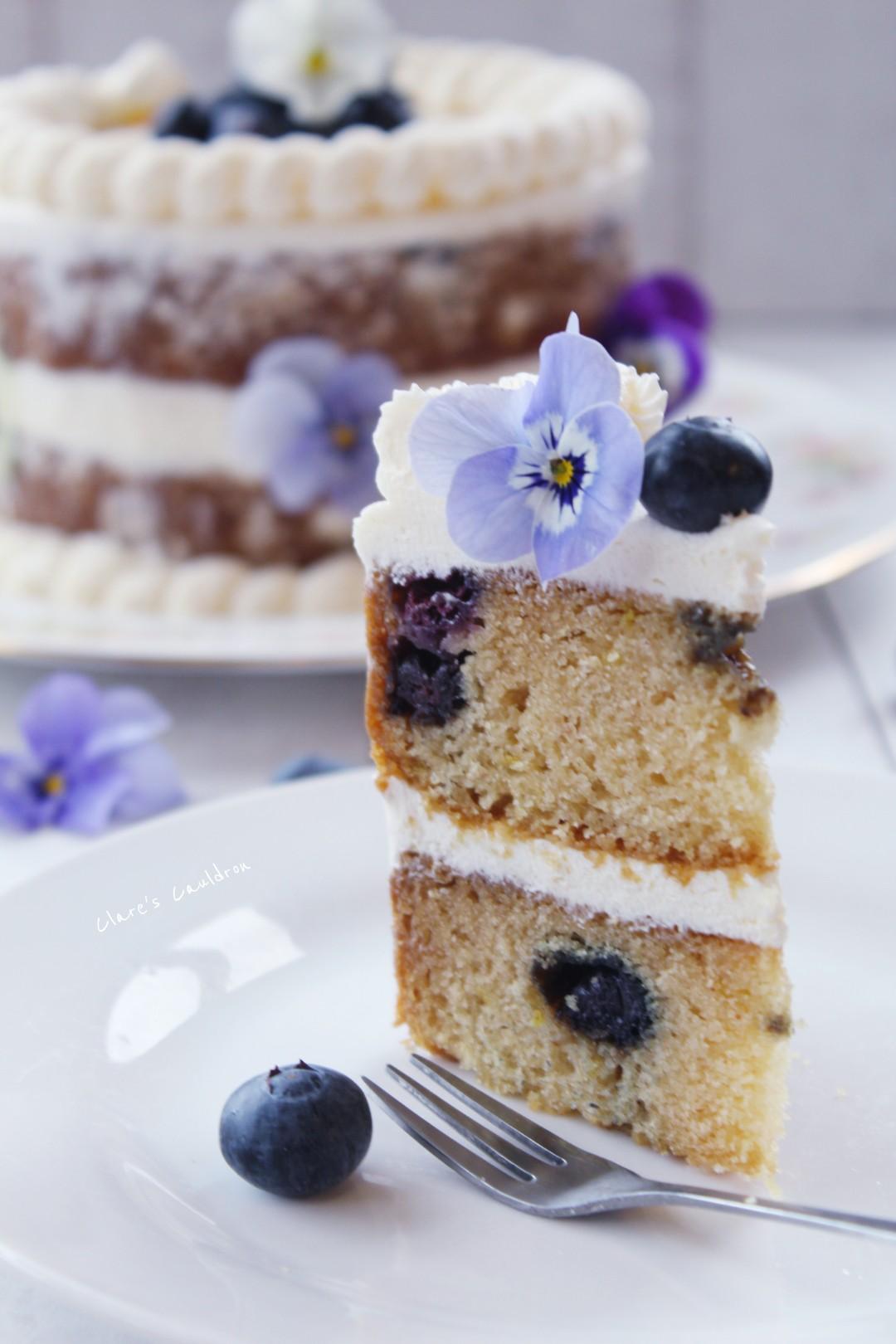 Lets Bake An Intolerance Lemon and Blueberry Cake