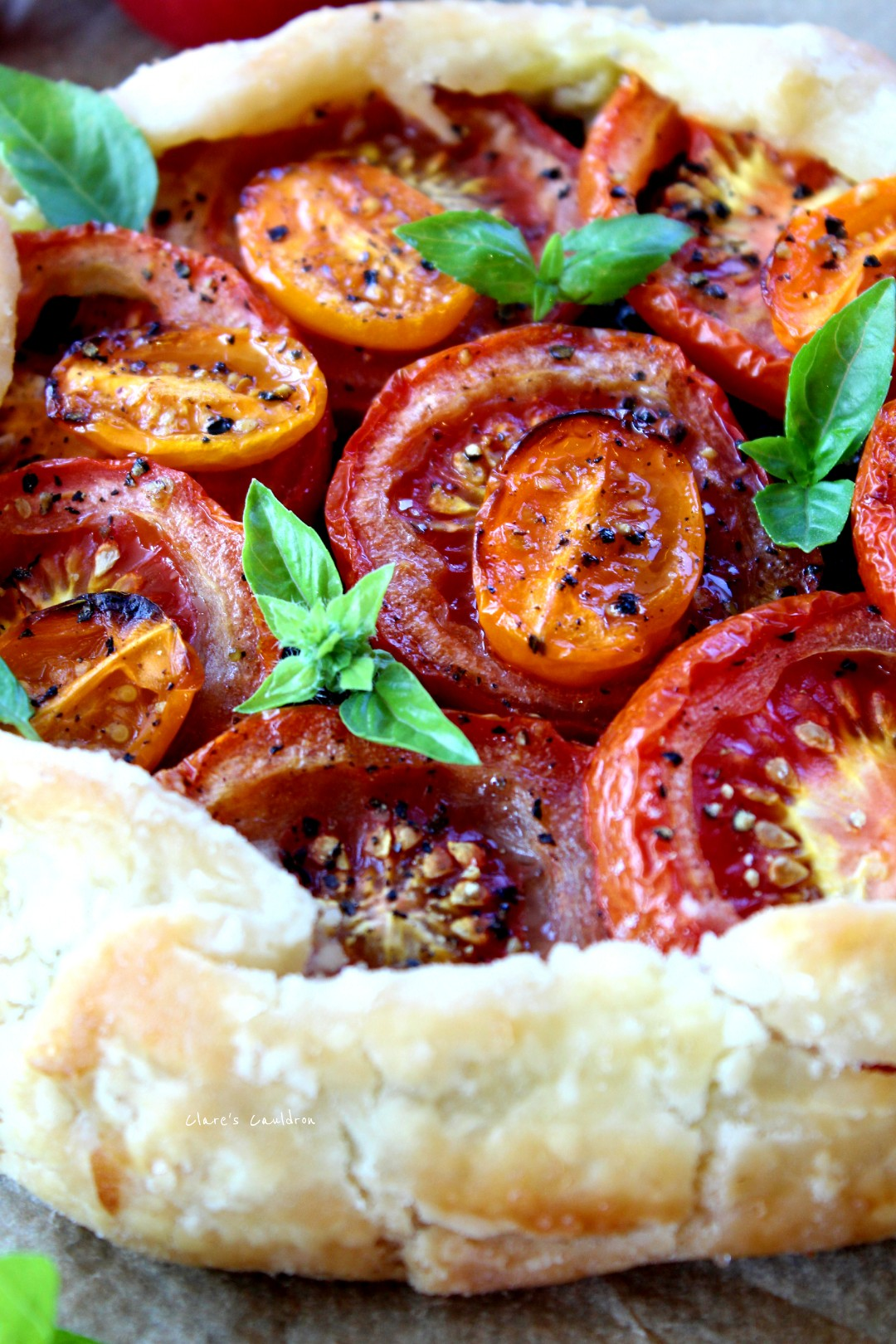 Lets Make Some Pastry……….. Well A Tomato And Pesto Galette