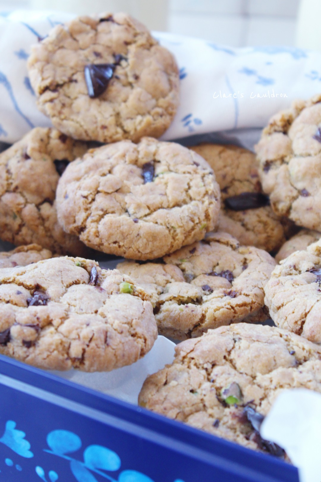 Pistachio and Chocolate Cookies orBiscuits