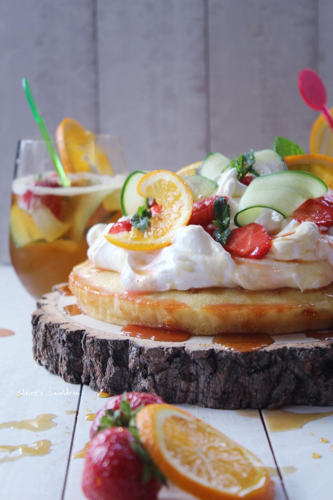 Pimms Shortcake Cake
