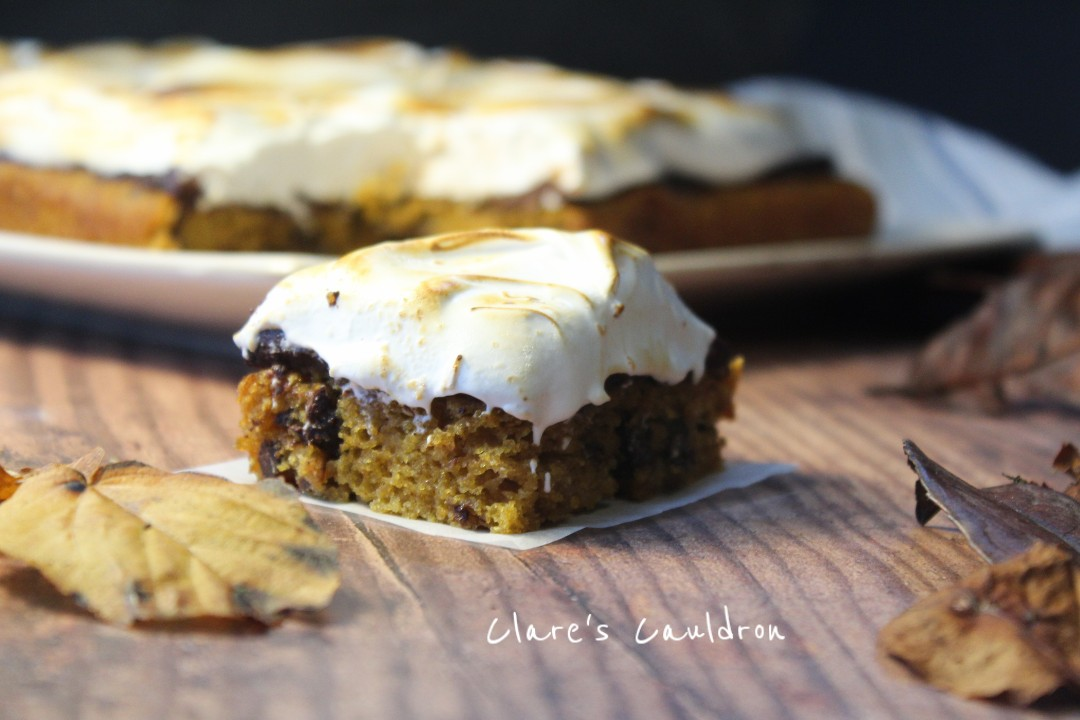 Pumpkin S'mores Cake…….oh yes the Brit does Pumpkin !!!!!