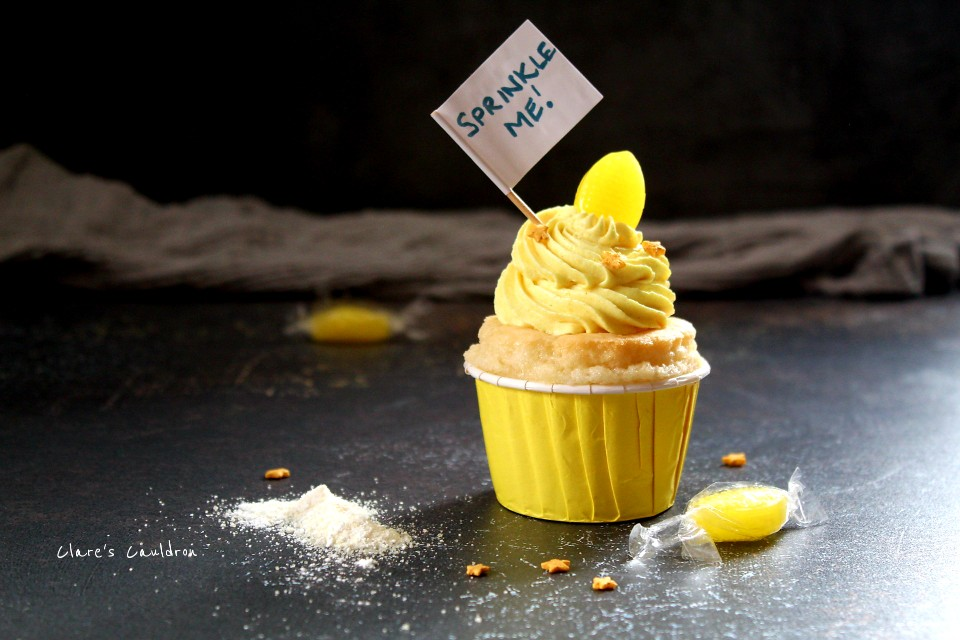 Lemon Sherbet Cupcakes for Dumbeldore